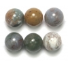 Semi-Precious 8mm Round Indian/Blood Agate